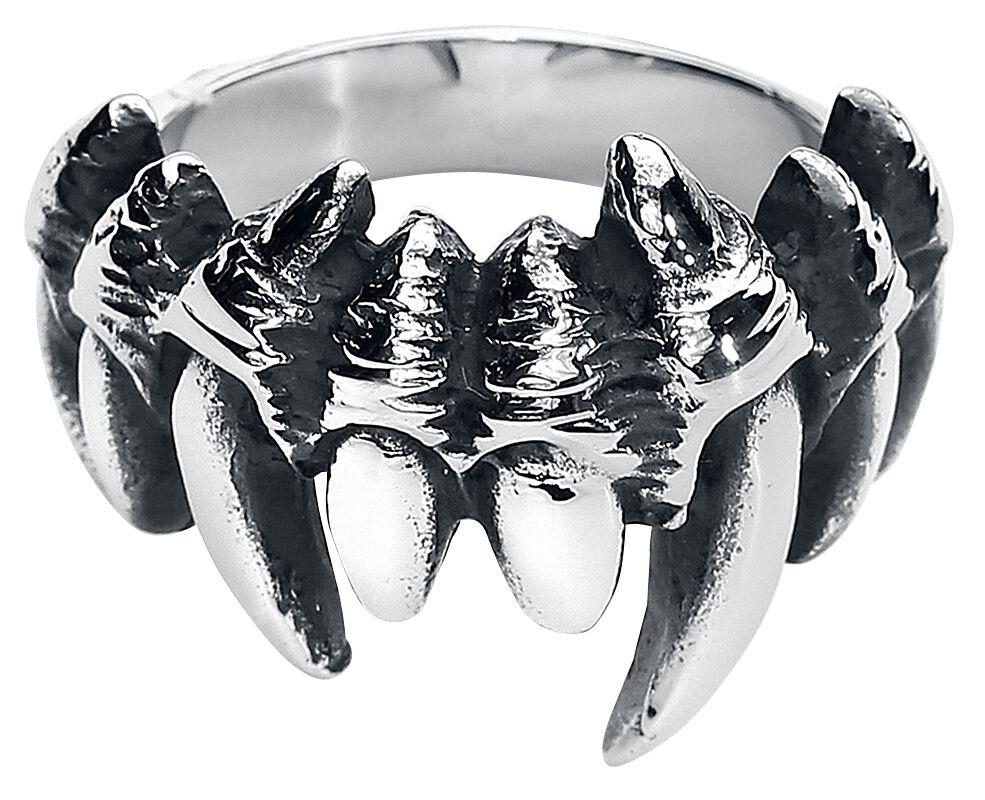 Image of   etNox hard and heavy Fangs Ring sølvfarvet