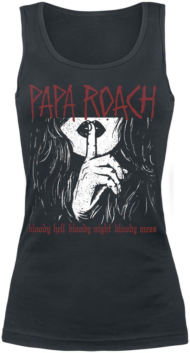 Zespoły - Topy - Top damski Papa Roach Bloody Hell Top damski czarny - 346218