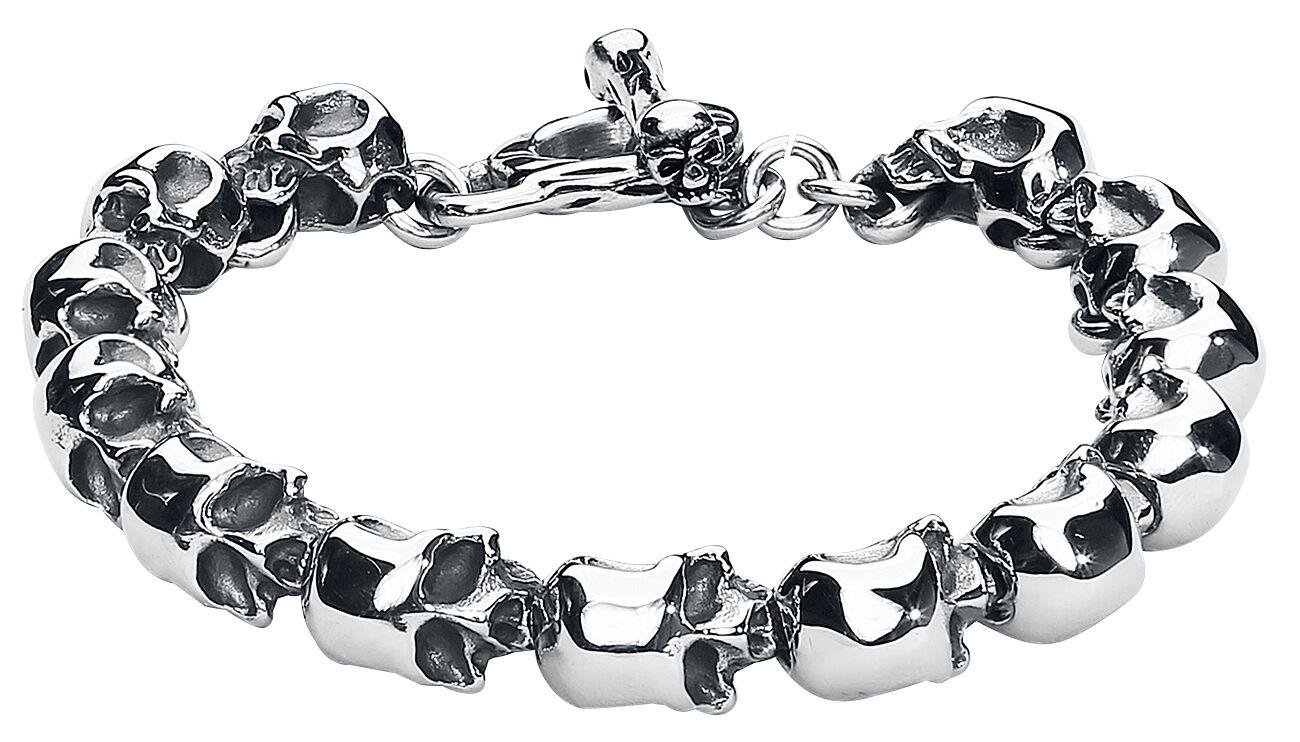 Image of   etNox hard and heavy Skull Armbånd sølvfarvet