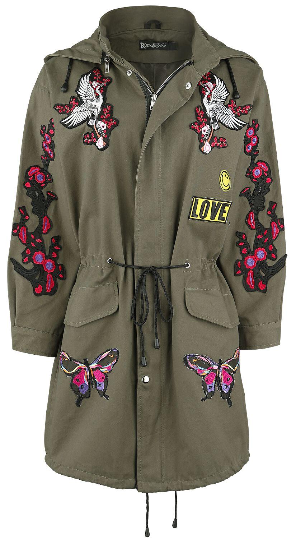 Marki - Płaszcze - Płaszcz damski Rockabella Amorer Tour Jacket Płaszcz damski khaki - 346238