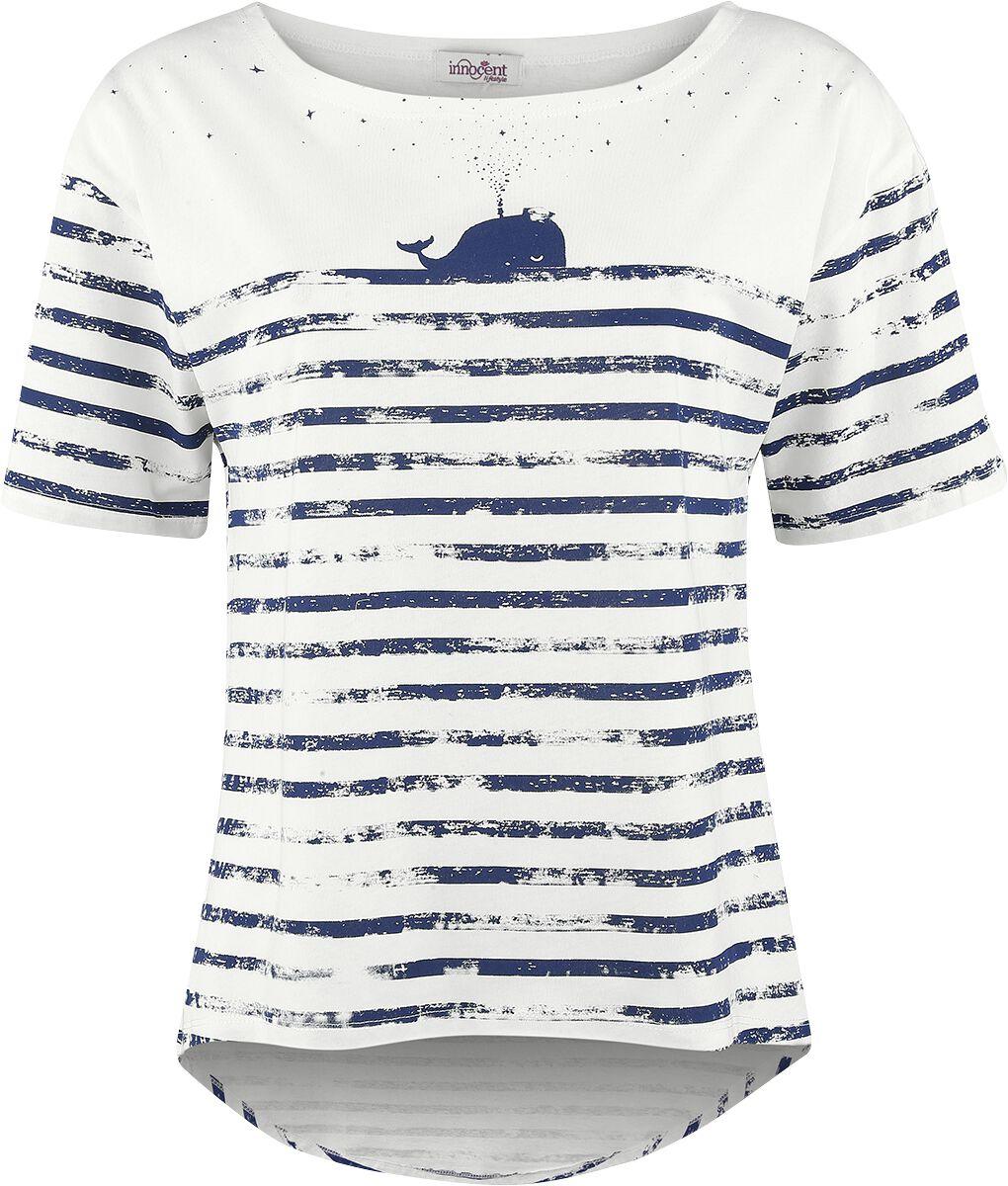 Marki - Koszulki - Koszulka damska Innocent Whale Lines Koszulka damska biały - 346240
