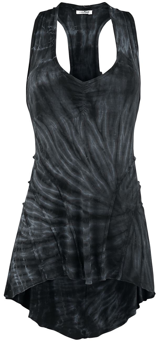 Image of   Innocent Lucy Tye Dye Vest Girlie top sort-grå