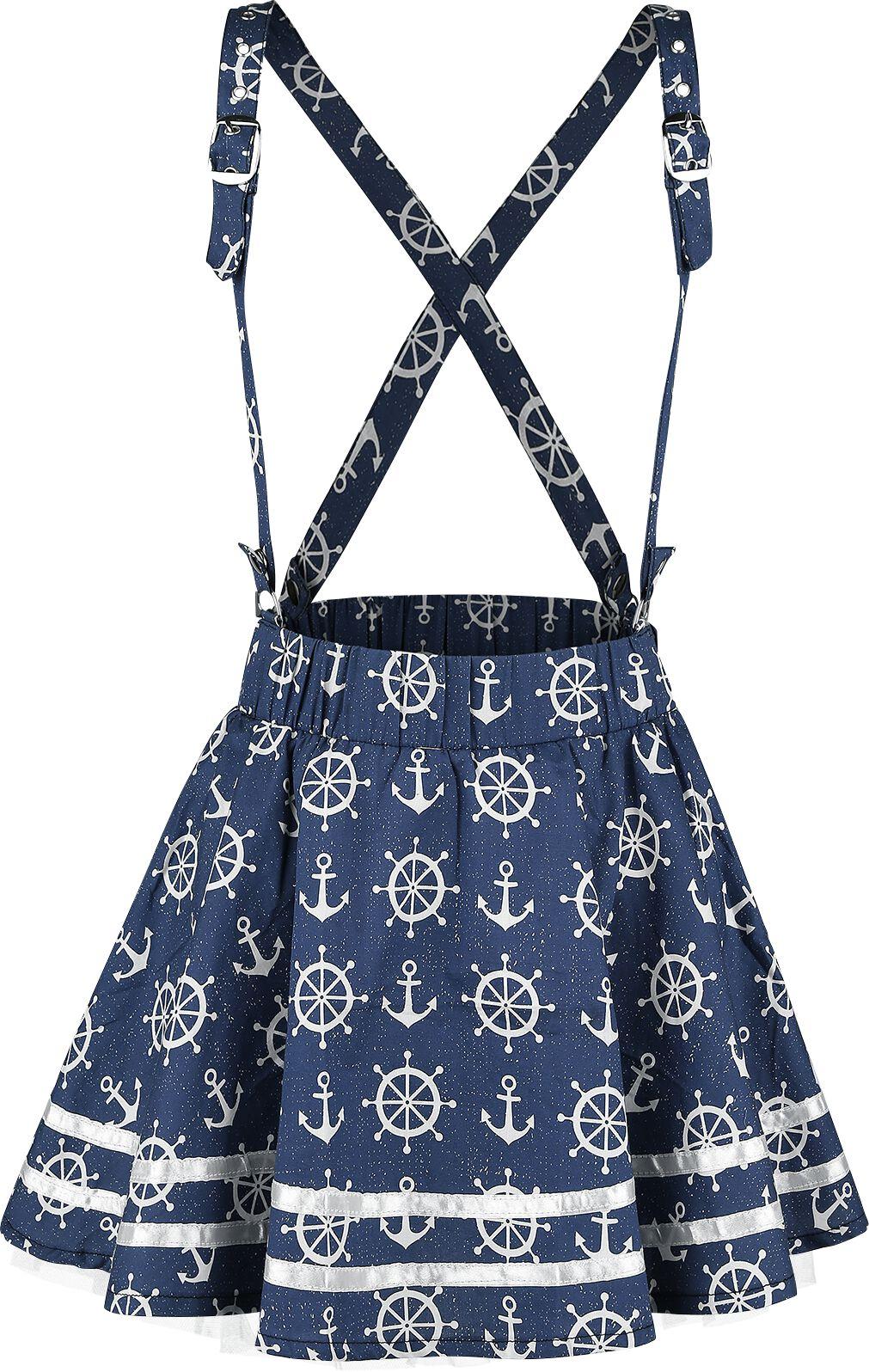 Marki - Spódnice - Spódnica Mini Rockabella Alexis Skirt Spódnica Mini niebieski - 346297