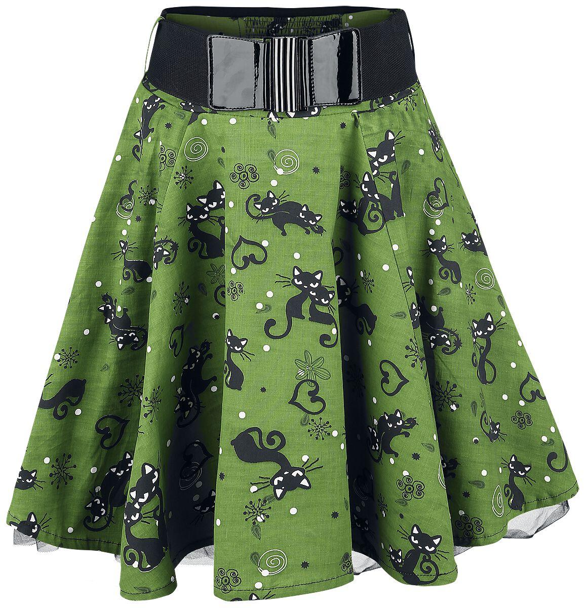 Marki - Spódnice - Spódnica Rockabella Feline Swing Spódnica zielony - 346298