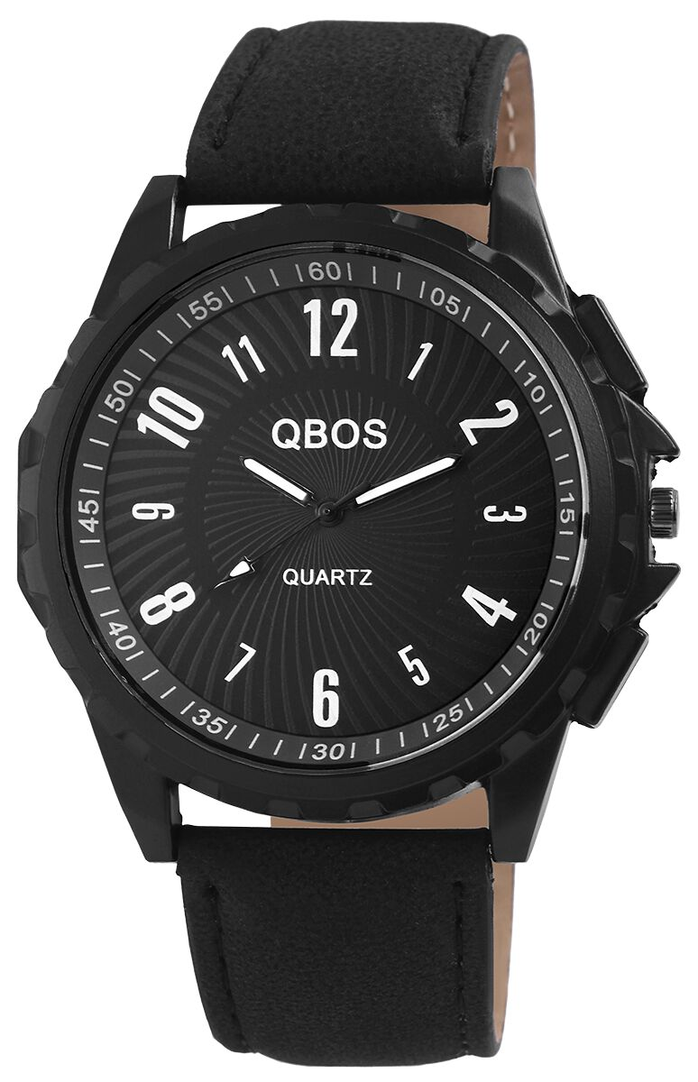 Marki - Zegarki na rękę - Zegarek na rękę QBOS Whirl Zegarek na rękę czarny - 346306