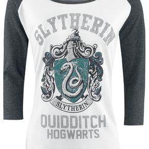 Harry Potter Serpentard - Quidditch Manches Longues Femme blanc/gris chiné