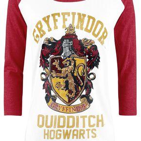 Harry Potter Gryffondor - Quidditch Manches Longues Femme chiné blanc/rouge