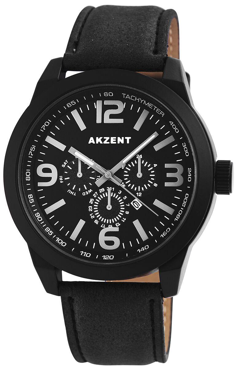 Marki - Zegarki na rękę - Zegarek na rękę Akzent Black Chronolook Zegarek na rękę czarny - 346328