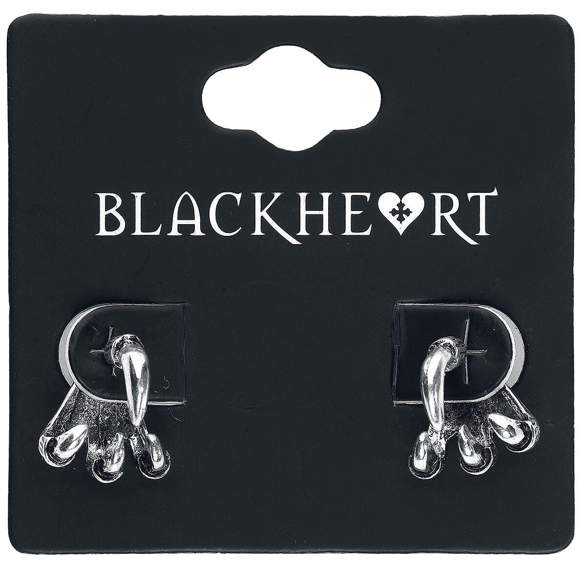 Image of   Blackheart Claw Ørestik sæt sølvfarvet