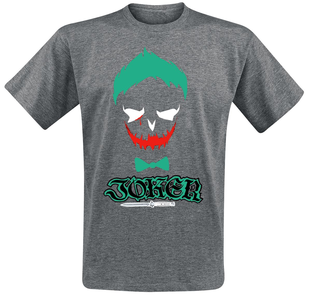 Image of   Suicide Squad The Joker - Grey Skull T-Shirt grålig