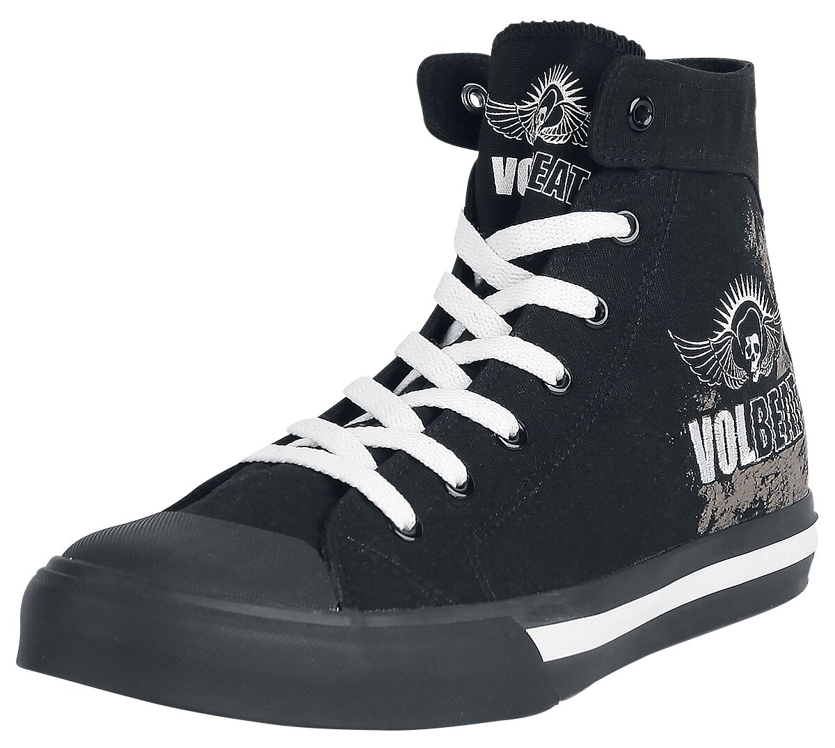 Image of   Volbeat Skullwing Sneakers sort
