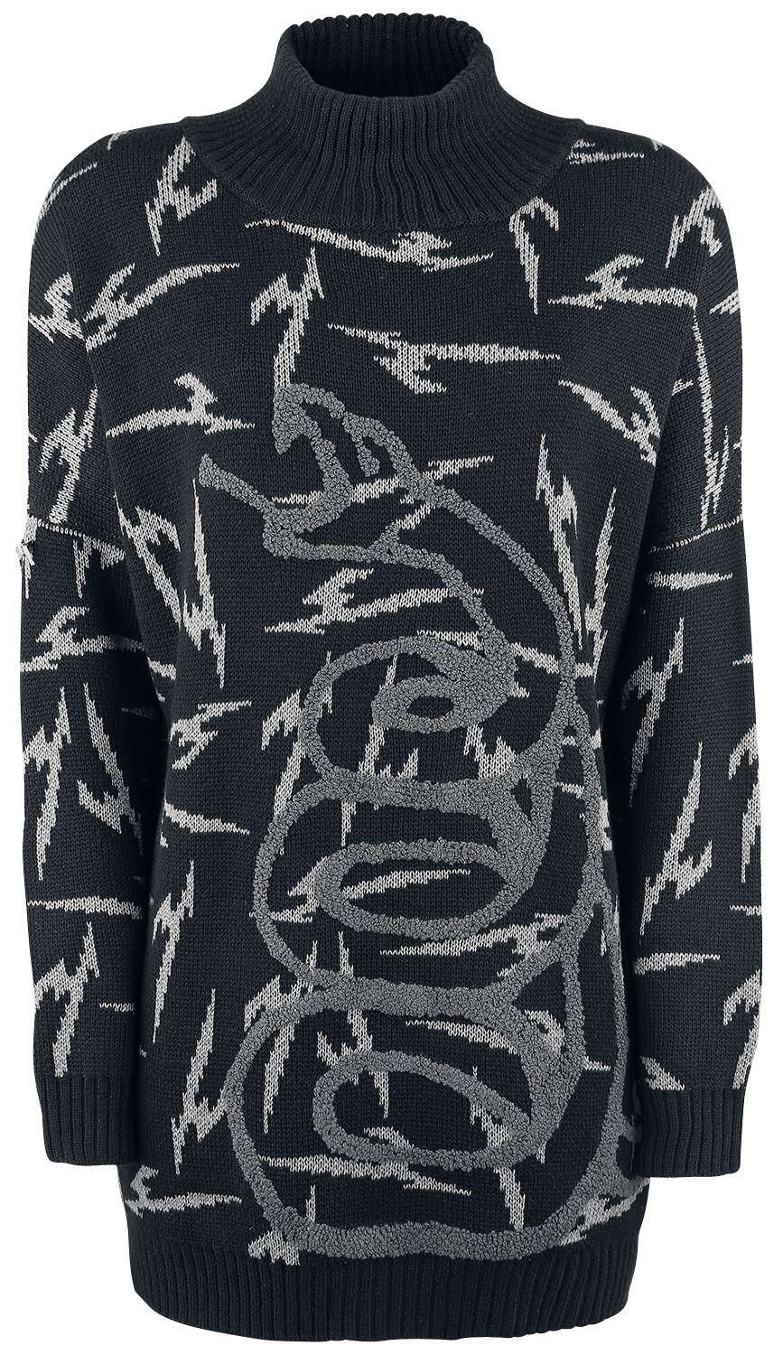 Image of   Metallica EMP Signature Collection Girlie turtleneck sweater sort