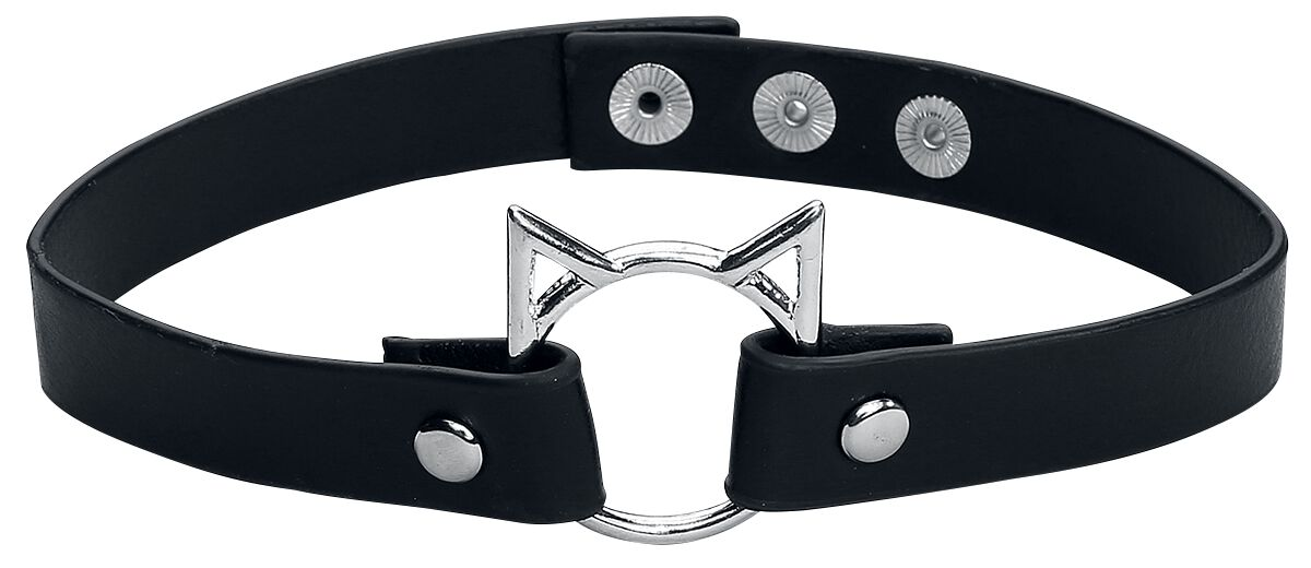 Image of   Blackheart Kitty Choker Halsbånd Standard