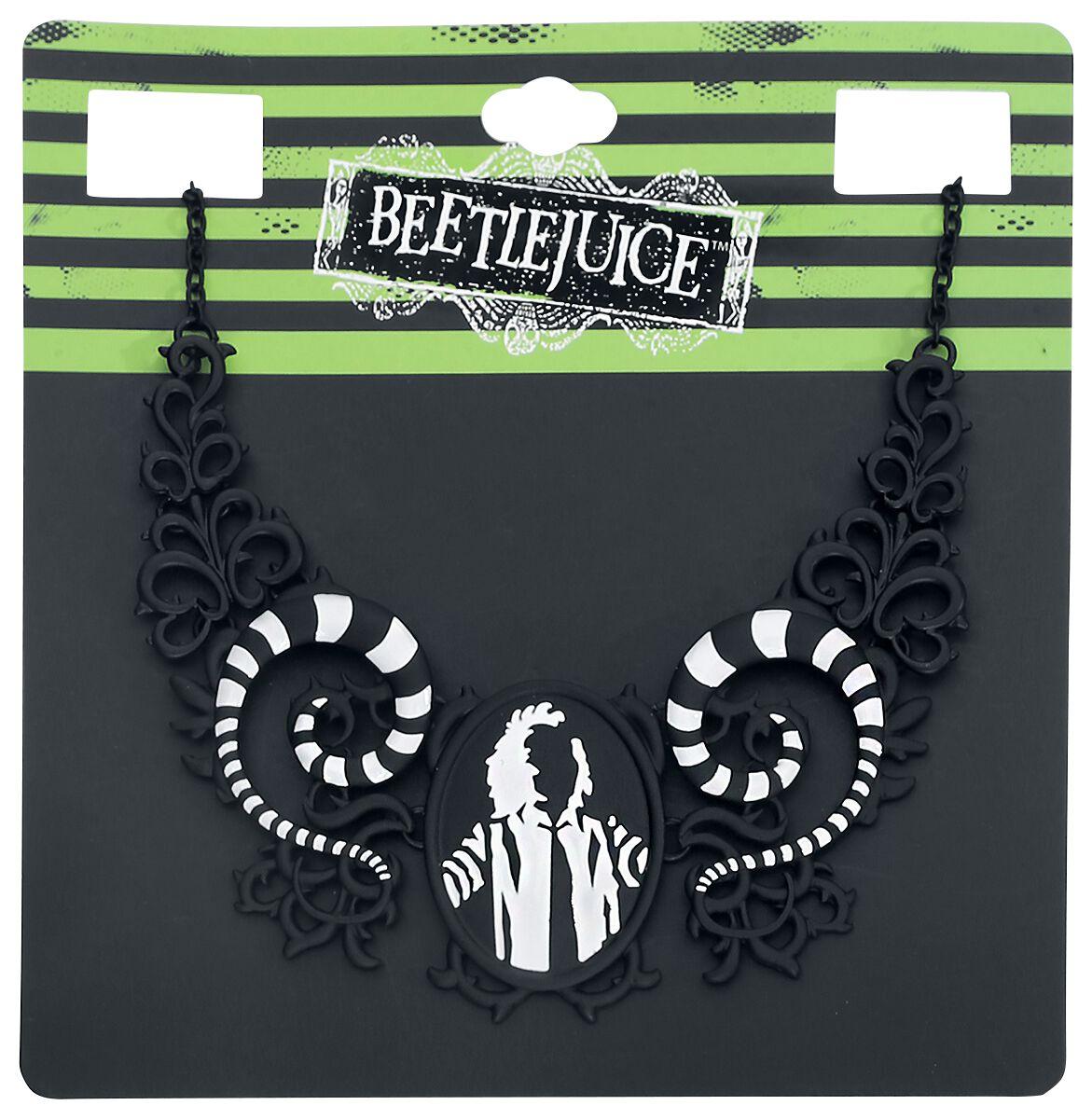 Merch dla Fanów - Naszyjniki - Naszyjnik Beetlejuice Beetlejuice Collier Naszyjnik czarny/biały - 346527