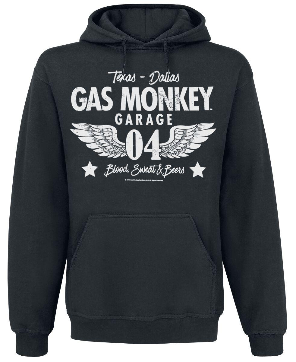 Merch dla Fanów - Bluzy z kapturem - Bluza z kapturem Gas Monkey Garage Wings Bluza z kapturem czarny - 346538