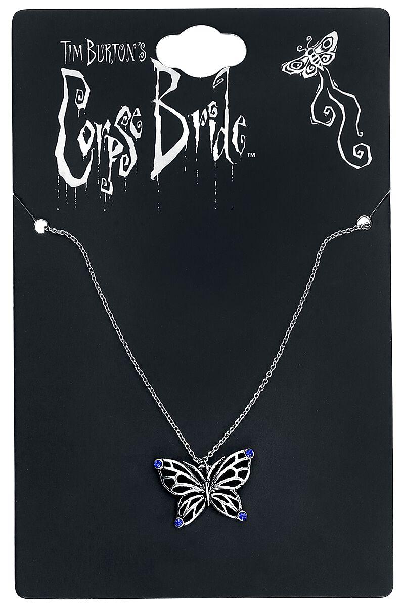 Merch dla Fanów - Naszyjniki - Naszyjnik Corpse Bride Butterfly Naszyjnik srebrny - 346539