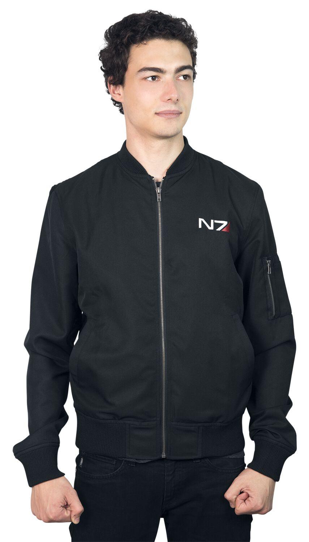 Merch dla Fanów - Kurtki - Kurtka Mass Effect Andromeda - N7 Classic Logo Kurtka czarny - 346546