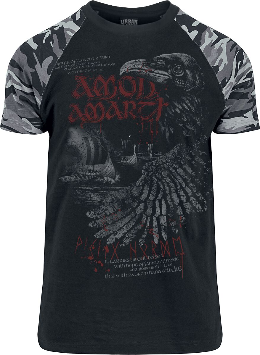 Image of   Amon Amarth Raven T-Shirt sort-kamouflage