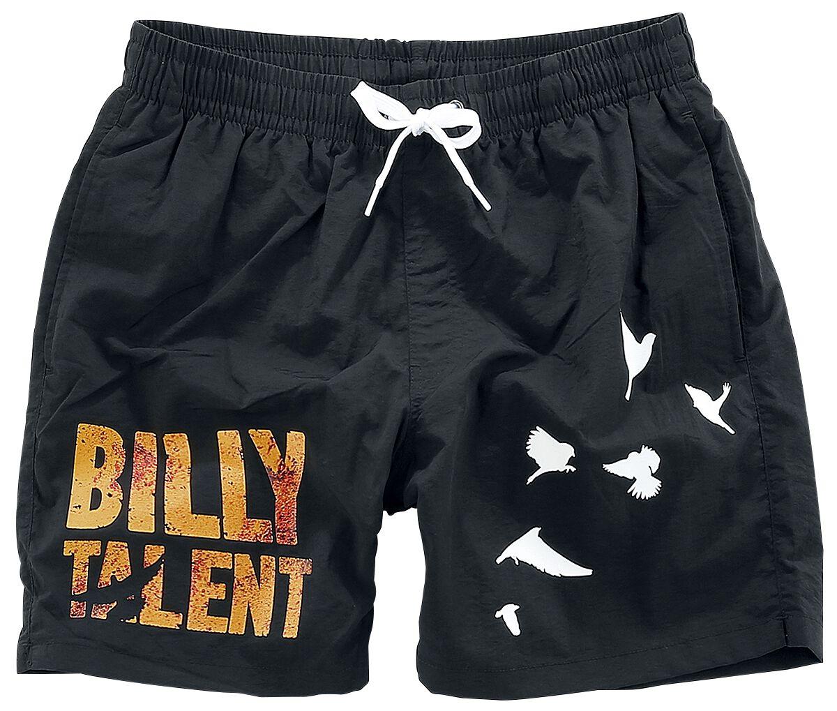 Zespoły - Odzież kąpielowa - Kąpielówki Billy Talent Birds Kąpielówki czarny - 346597