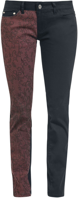 Image of   Black Premium by EMP Chappy Skarlett (Slim Fit) Girlie bukser sort-rød