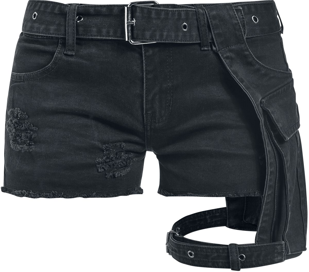 Image of   Black Premium by EMP Bite The Bullet Girlie shorts sort
