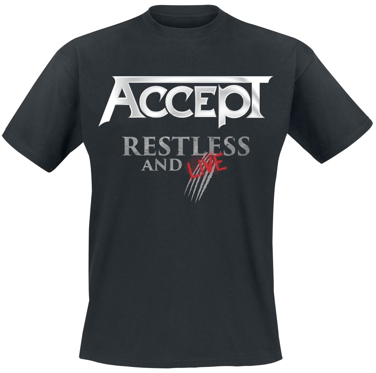 Image of   Accept Restless And Live T-Shirt sort