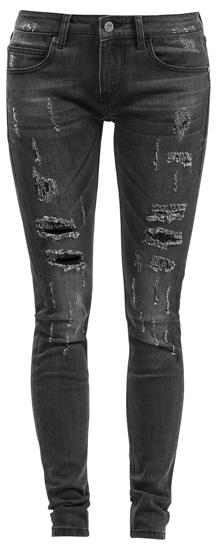 Image of   Black Premium by EMP Candid Megan Girlie jeans grå