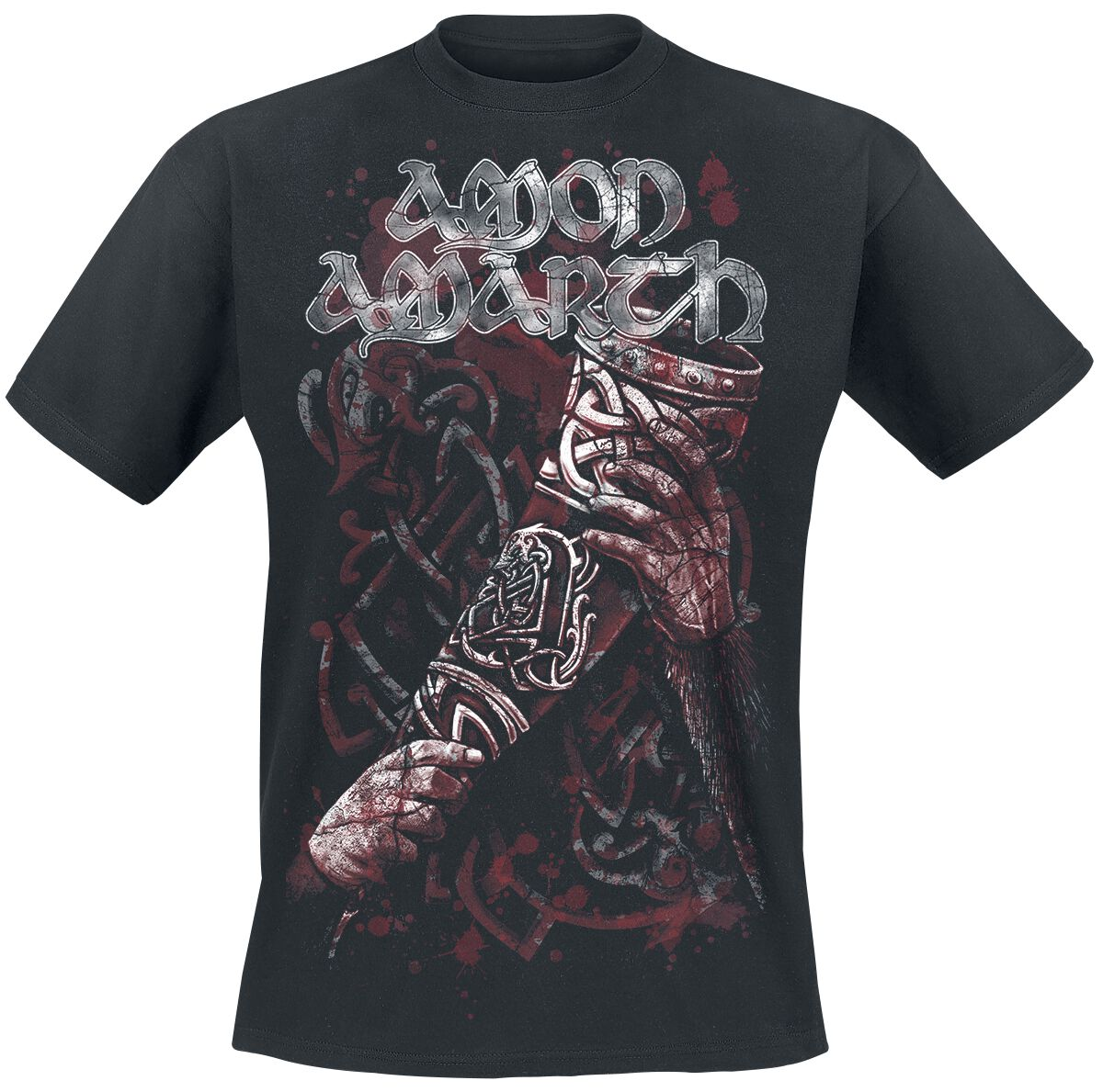 Image of   Amon Amarth Raise Your Horns T-Shirt sort