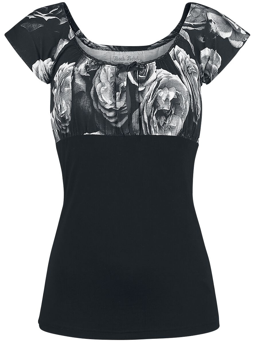 Image of   Rock Rebel by EMP Bliss Girlie trøje sort-grå