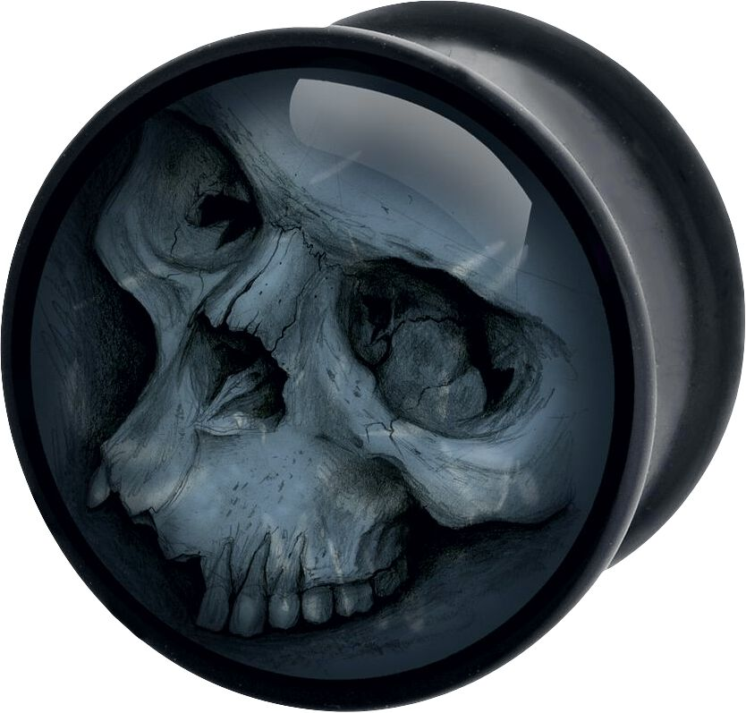 Image of   Wildcat Grey Skull Plugs sort-grå
