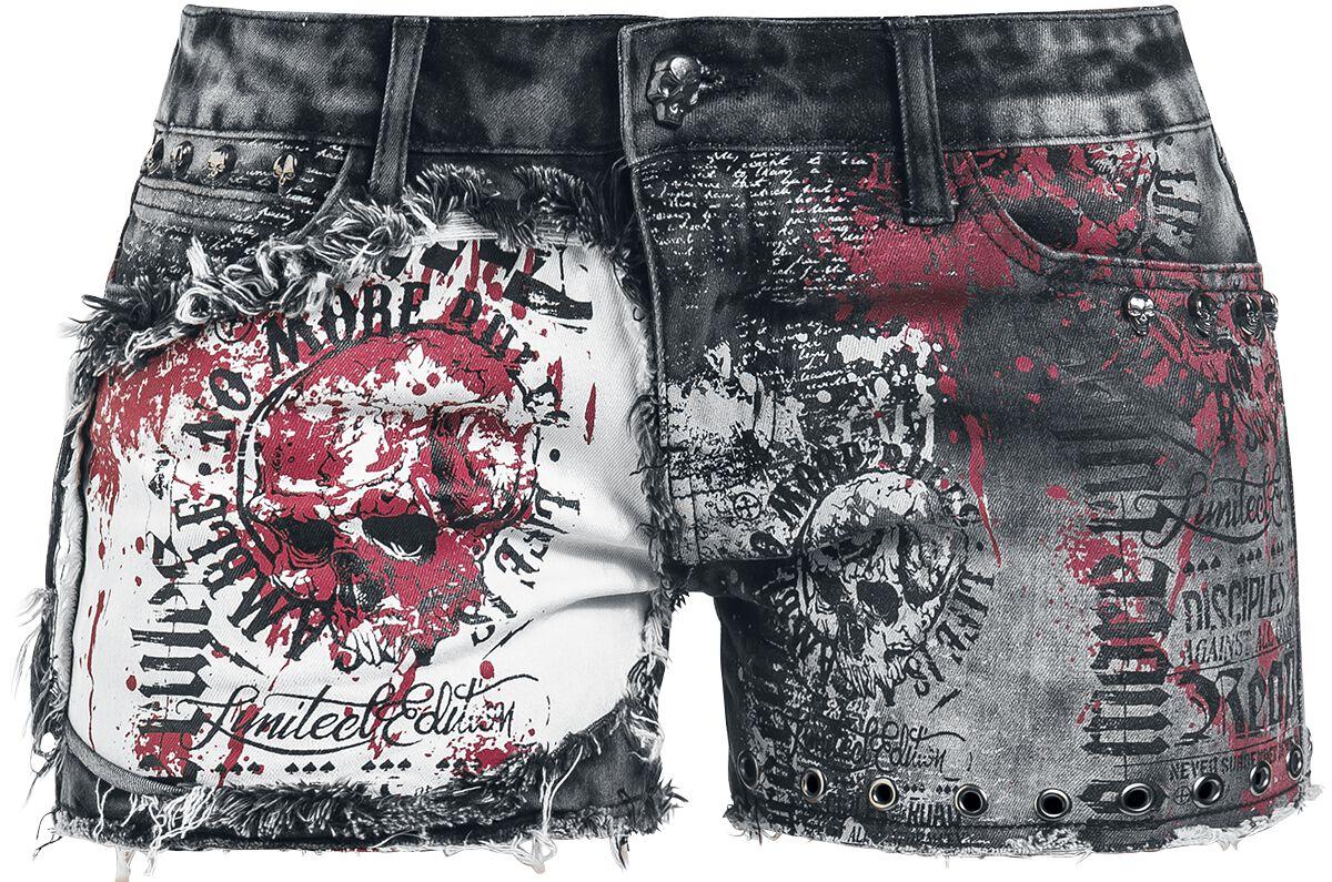 Image of   Rock Rebel by EMP Feel Good Hit Of The Summer Girlie shorts sort