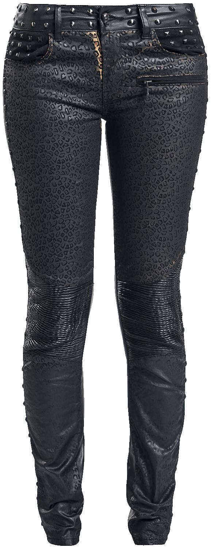 Rock Rebel by EMP Leo Megan (Skinny Fit) Spodnie damskie czarny