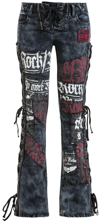 Image of   Rock Rebel by EMP Grace Girlie jeans sort