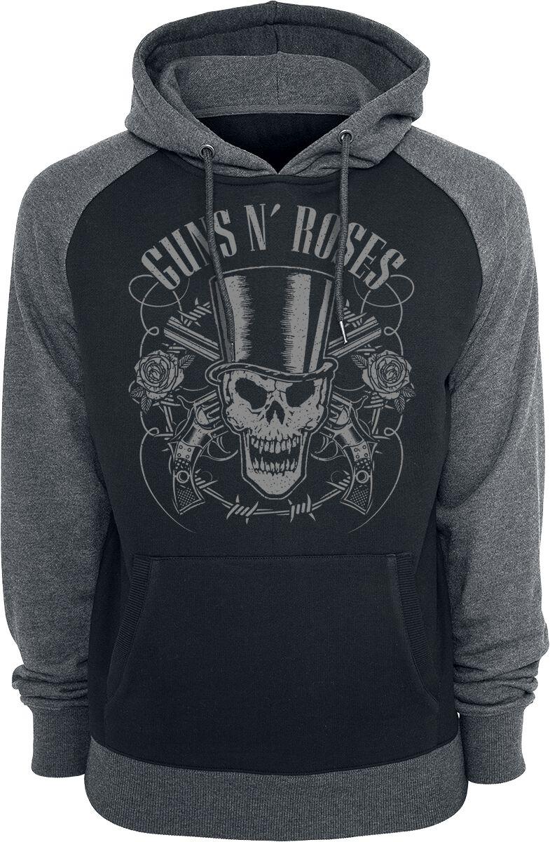 Image of   Guns N' Roses Skull And Pistols Hættetrøje sort-grå