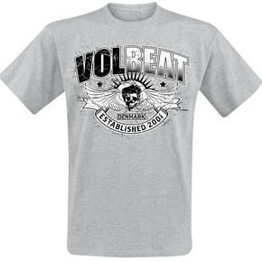 Volbeat Skullwing Ribbon T-shirt gris chiné
