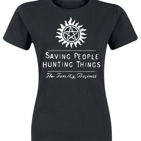 Supernatural Saving People Hunting Things T-shirt Femme noir