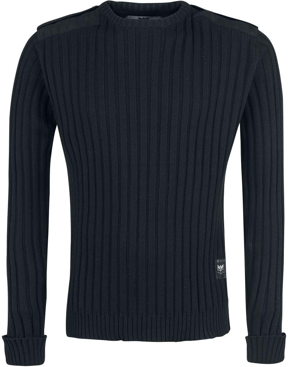 Image of   Black Premium by EMP Army Knitt Sweater Strikketrøje sort