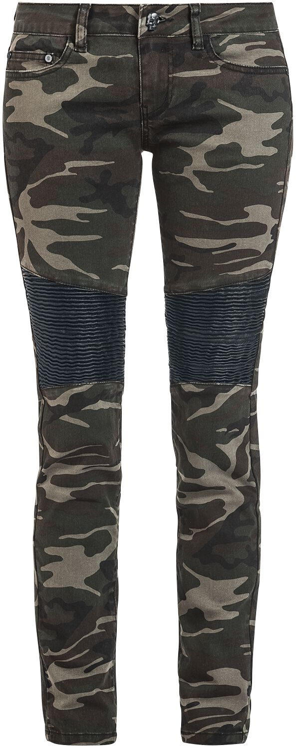 Hosen für Frauen - Rock Rebel by EMP Skarlett Girl Hose camouflage  - Onlineshop EMP