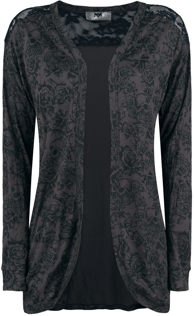 Image of   Black Premium by EMP Angel City Pigecardigan grå-sort