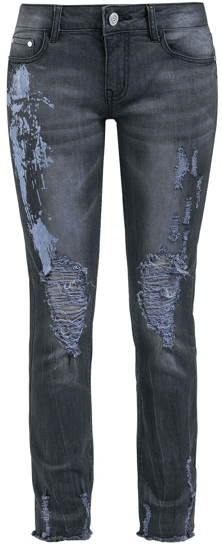 Image of   RED by EMP Candid Skarlett Girlie jeans grå