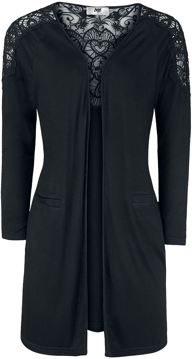 Image of   Black Premium by EMP Angel Gone Over Pigecardigan sort