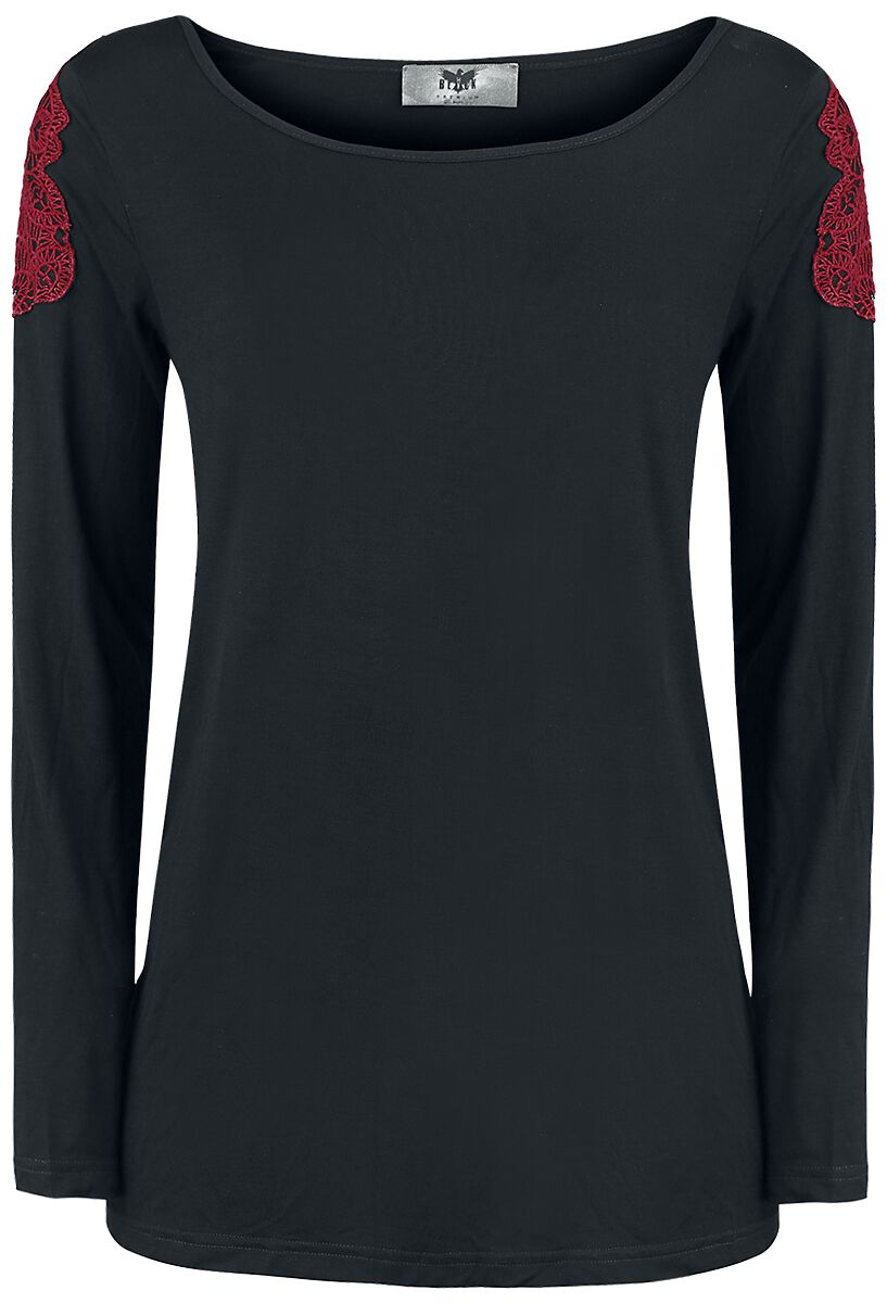 Image of   Black Premium by EMP Devil On My Shoulder Girlie sweatshirt sort