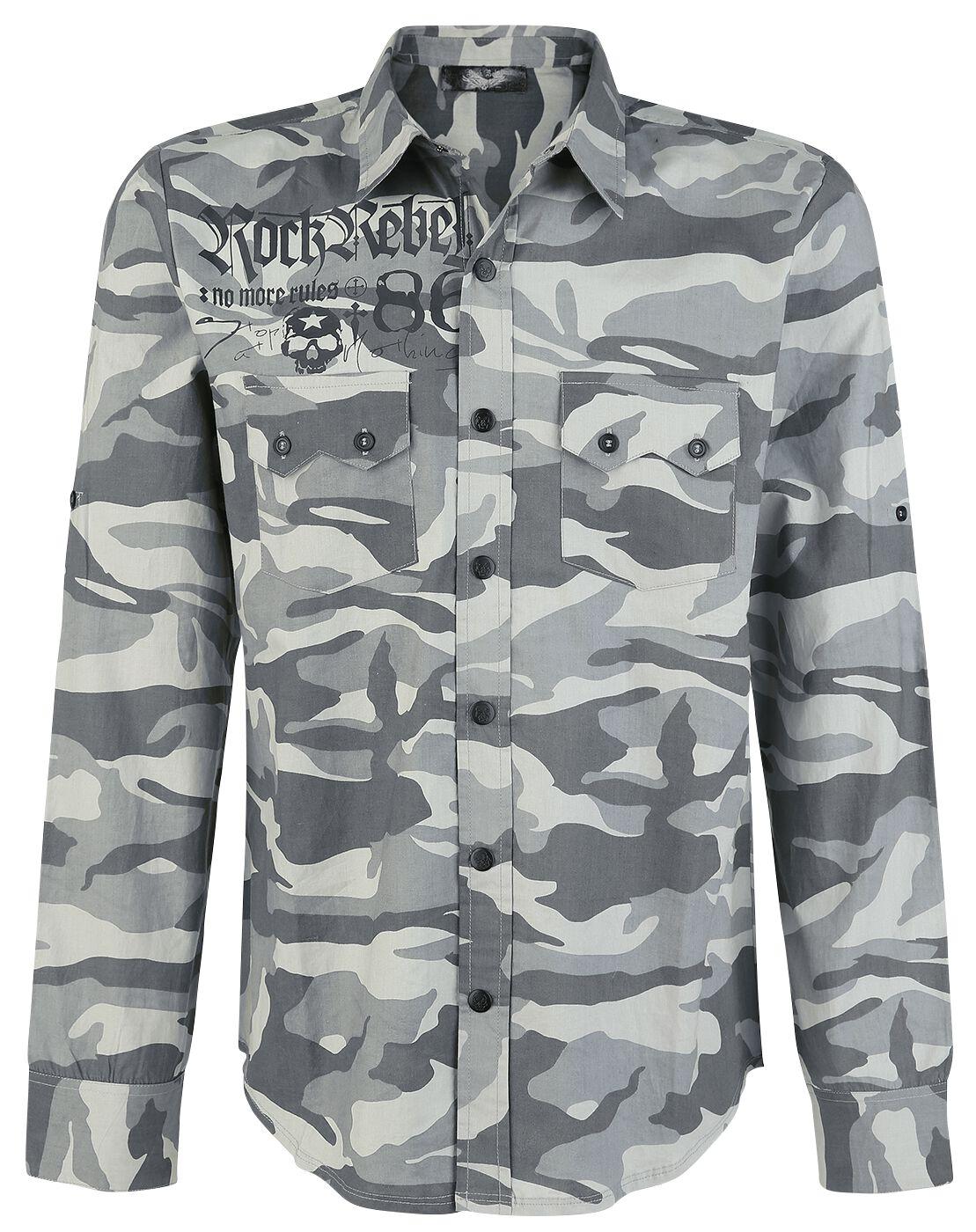 Image of   Rock Rebel by EMP Boundaries Shattered Skjorte camouflage