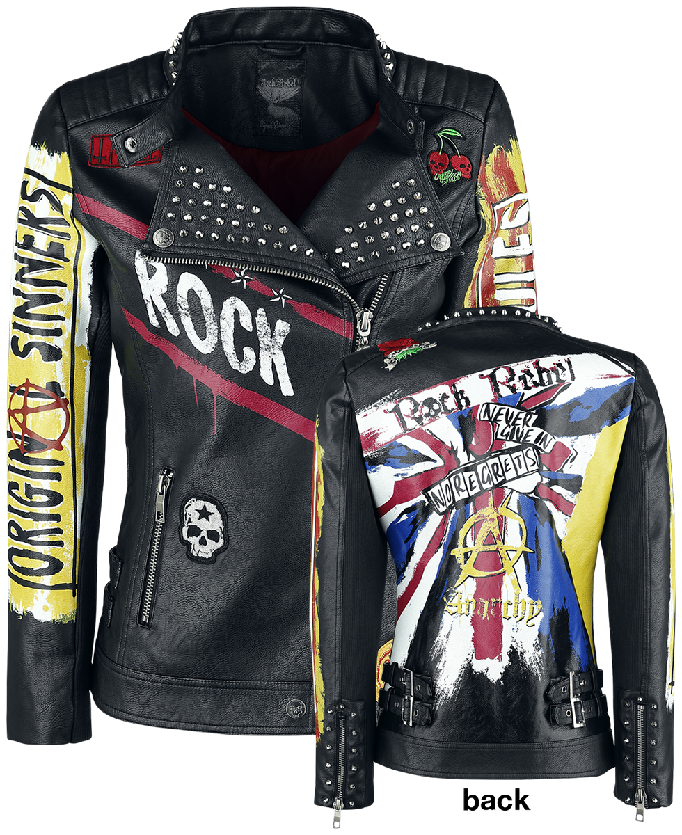 Rock Rebel by EMP Chaotic Good Kurtka damska czarny