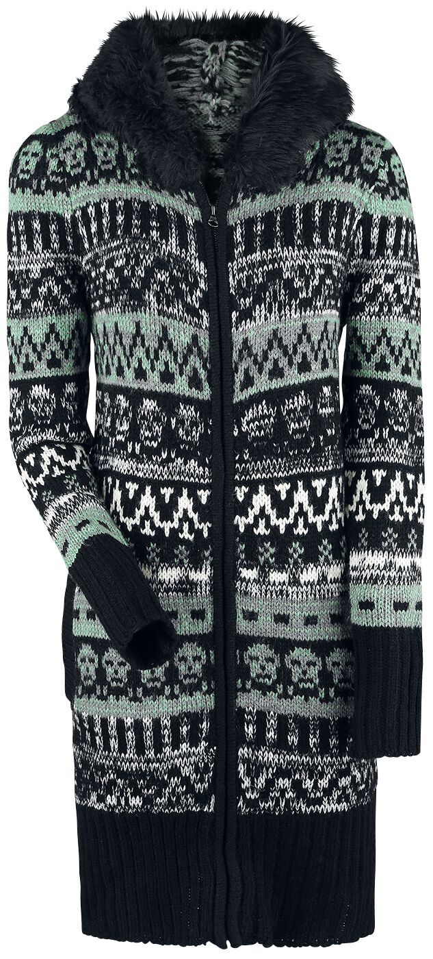 Image of   Rock Rebel by EMP Cozy In The Coffin Pigecardigan grå