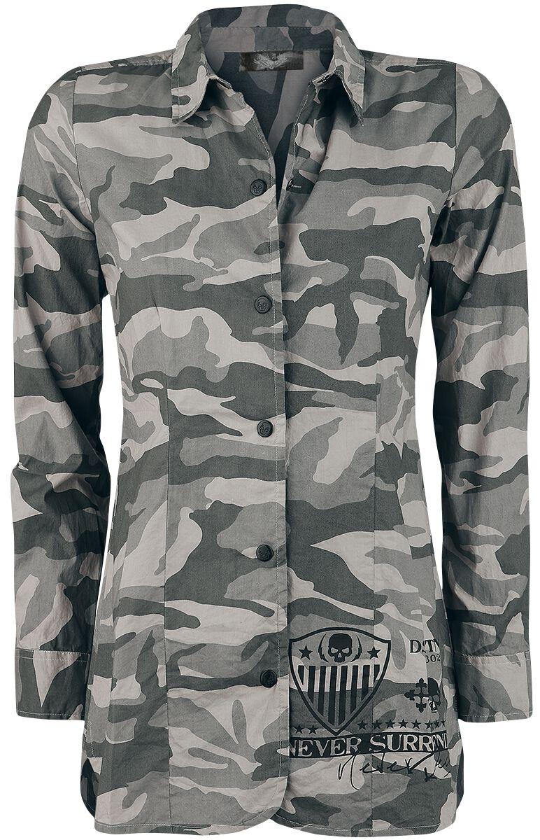 Image of   Rock Rebel by EMP Boundaries Shattered Girlie Skjorte camouflage