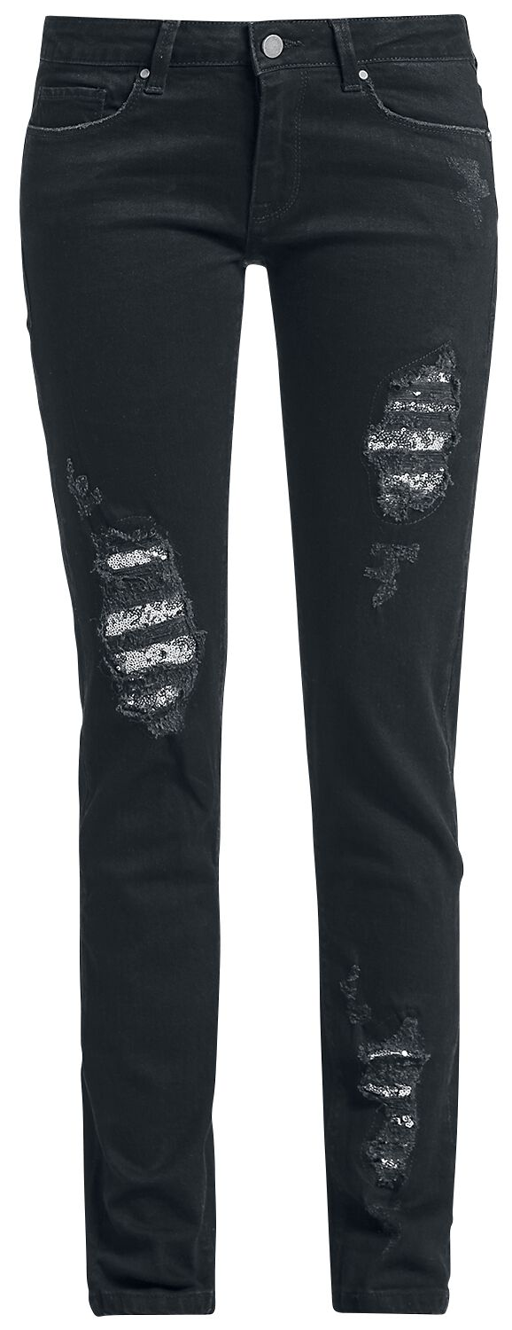 Image of   Full Volume by EMP Attractive Skarlett (Slim Fit) Girlie jeans sort