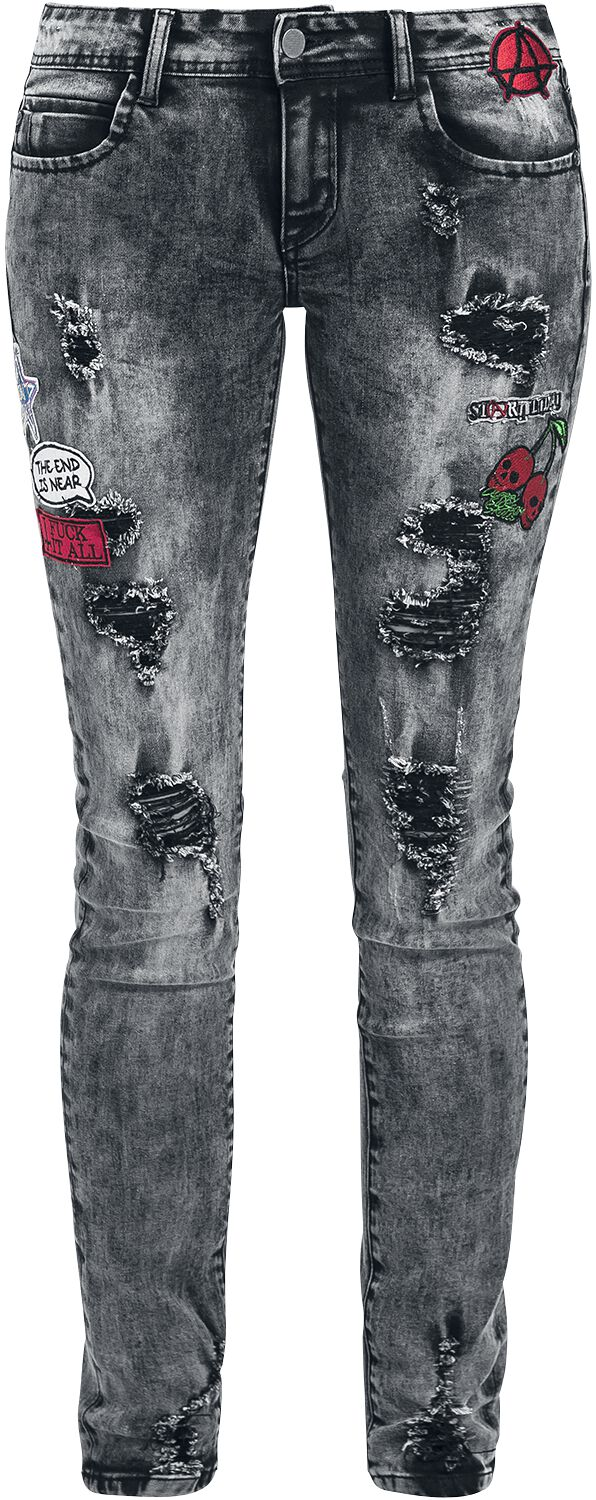 Image of   Full Volume by EMP Patches Skarlett (Slim Fit) Girlie jeans sort