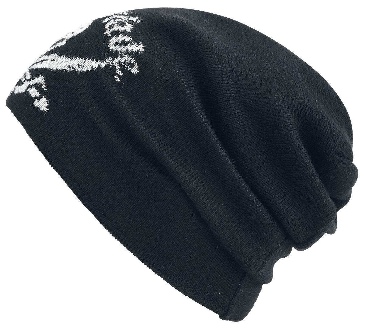 Zespoły - Czapki i Kapelusze - Beanie Metal Blade Pirate Logo Wooly Beanie czarny - 347724