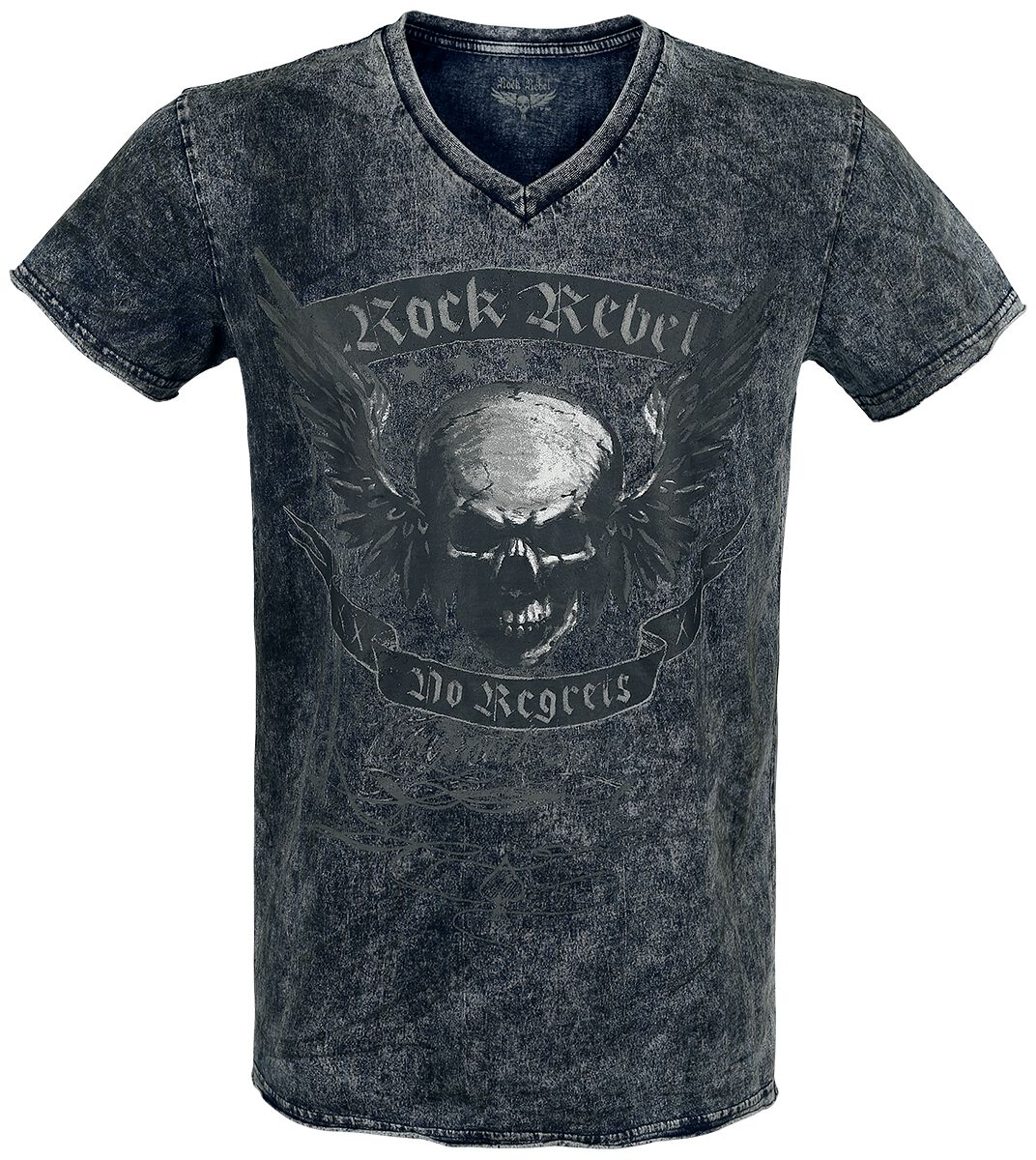 Image of   Rock Rebel by EMP Don' t Fear The Dark T-Shirt grå